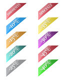 Corner ribbons for sale Royalty Free Stock Images