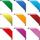 Corner ribbons Royalty Free Stock Photos