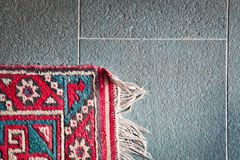 Corner of rug Royalty Free Stock Images