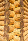Corner of rural wooden house Royalty Free Stock Photo