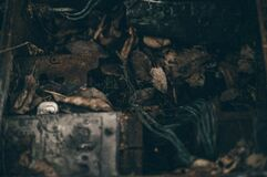 Corner of scrap yard Royalty Free Stock Photo