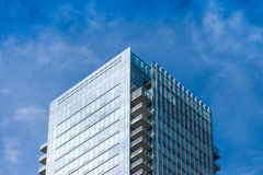 Corner section of a highrise apartment building Stock Photo