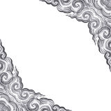 Corner of silver carve. Royalty Free Stock Images