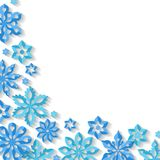 Corner snowflake background. Royalty Free Stock Image