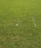 Corner of soccer field Stock Images