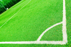 Corner of a soccer field Royalty Free Stock Images