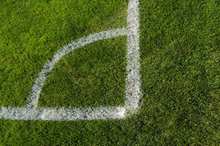 Corner of soccer field Royalty Free Stock Images