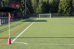 Corner of the soccer field Royalty Free Stock Image
