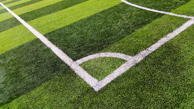 Corner of Soccer field Stock Image