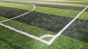 Corner of soccer field Royalty Free Stock Photography