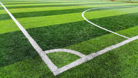 Corner of soccer field Royalty Free Stock Photo