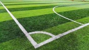 Corner of soccer field. Training field Royalty Free Stock Photo