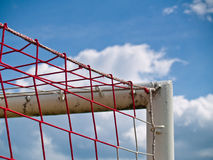 Corner of the soccer goal. S in the school playground Stock Photography