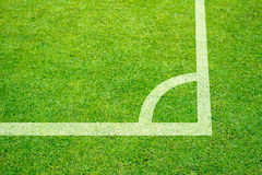 Corner of a soccer Stock Images