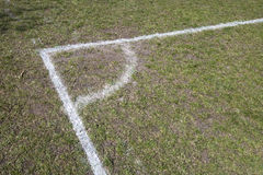 Corner of a Soccer Pitch Stock Images