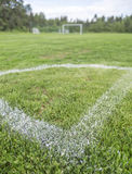 Corner of Soccer Pitch Stock Photography