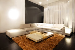 Corner sofa royalty free stock photography