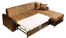 Corner sofa-bed bedroom suite Stock Photography