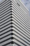 Corner of Striped Office Building in Portland, Oregon stock photo