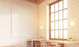 Corner of sunlit bar Royalty Free Stock Image
