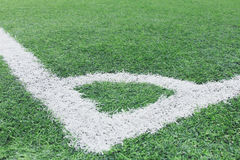 Corner of a synthetic football field Royalty Free Stock Photo