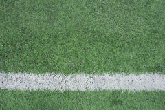 Corner of a synthetic football field Stock Image
