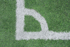 Corner of a synthetic football field Stock Photo