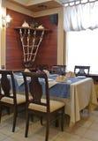 Corner table. Royalty Free Stock Image