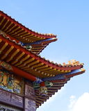The corner of  temple roof Royalty Free Stock Images