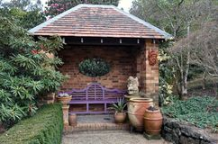 Corner to sit in the garden Royalty Free Stock Photography