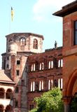 Corner tower of the ancient castle of Heidelberg in Germany Stock Images