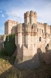 Corner tower and ditch of coca castle Stock Photography