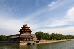 Corner tower of Forbidden City Royalty Free Stock Photo