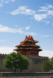 Corner tower of Forbidden City Stock Photography