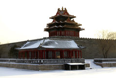 Corner Tower of the Forbidden City Stock Images