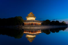 Corner Tower of Forbidden City Stock Image