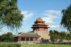 Corner Tower of the Forbidden City in Beijing Royalty Free Stock Photo