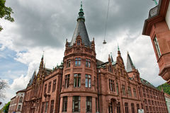 Corner Tower of Heidelberg University Library Royalty Free Stock Photo