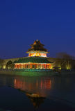 Corner Tower of Imperial Palace in Beijing Royalty Free Stock Photography