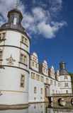 Corner tower of the Nauhaus castle in Paderborn Royalty Free Stock Photo