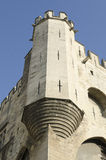 Corner tower of palace of popes in Avignon Royalty Free Stock Images