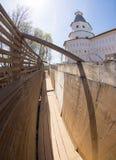 The corner tower in Resurrection New Jerusalem Monastery Royalty Free Stock Photos