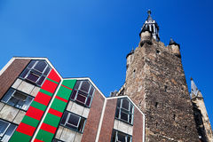 Corner tower of the town hall in Aachen Royalty Free Stock Image