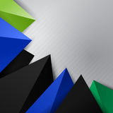 Corner triangle decorative element Royalty Free Stock Images