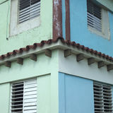 Corner of tropical apartment building Royalty Free Stock Photos