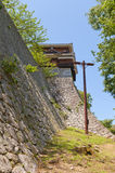 Corner Turret of Matsuyama castle, Japan Stock Photos