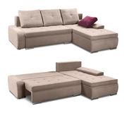 Corner upholstery sofa set with pillows isolated with clipping path Royalty Free Stock Photography