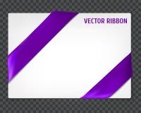 Corner vector ribbon Royalty Free Stock Image