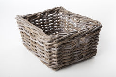 Corner view of an empty basket Royalty Free Stock Image