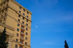 A corner view of the Four Seasons Hotel in Moscow. royalty free stock image